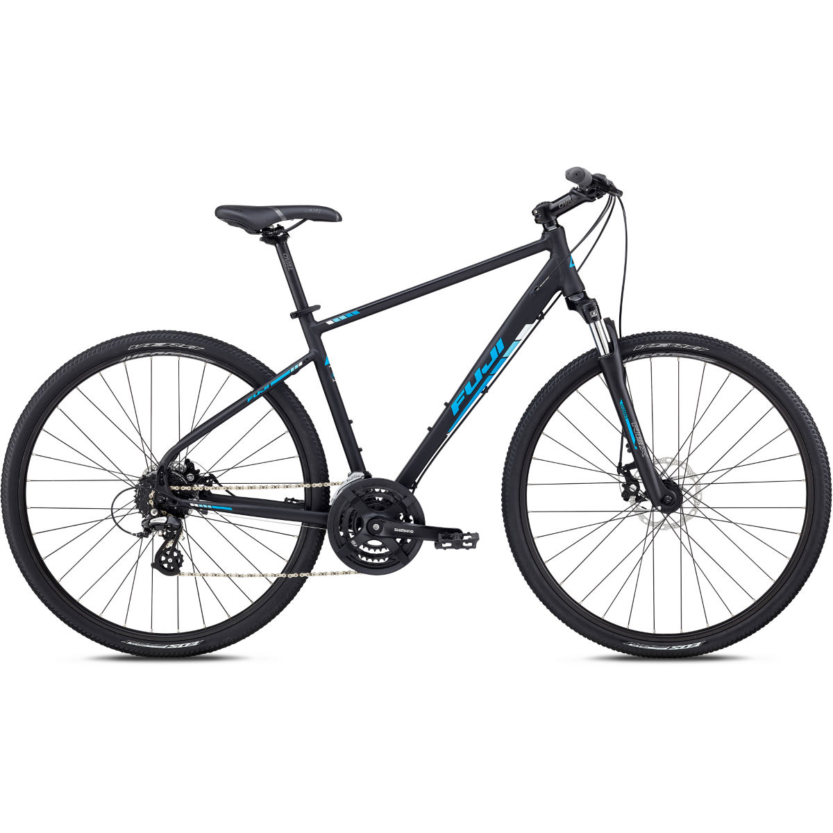 Vélo de ville Fuji Traverse 1.7 - 48cm(19'') Stock Bike Satin Black