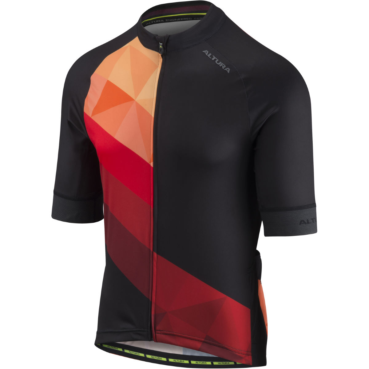 Altura Peloton Short Sleeve  Mosaic Jersey - L Red/Black