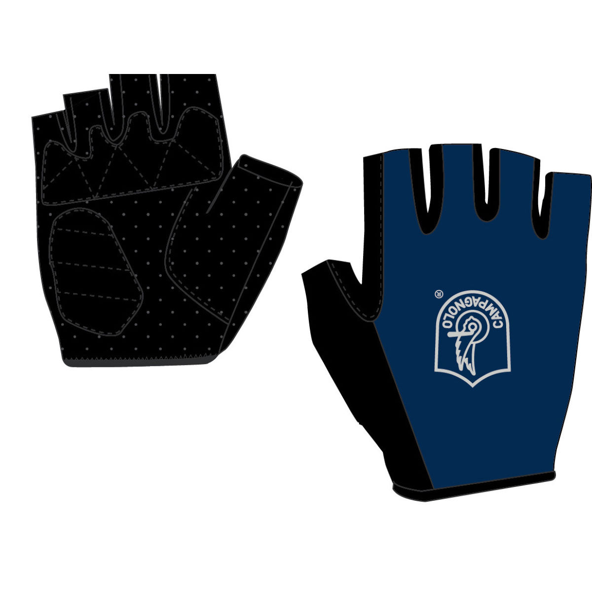 Campagnolo Glotech Gloves - L Blue | Short Finger Gloves