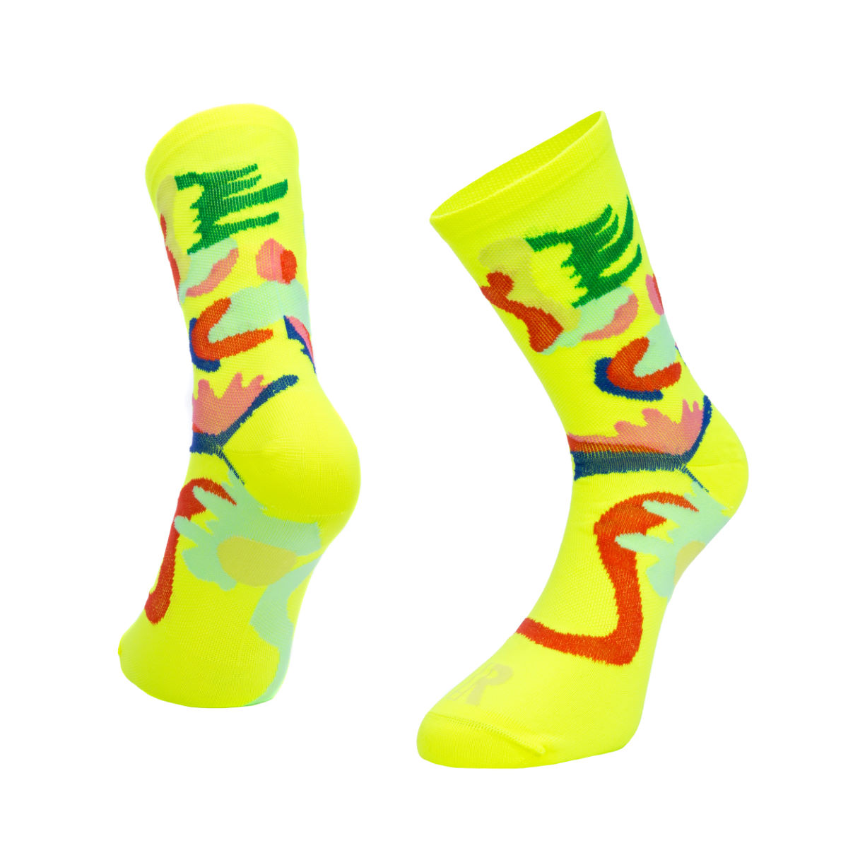 Ratio Floral 16cm Sock (Yellow) - Calcetines de ciclismo