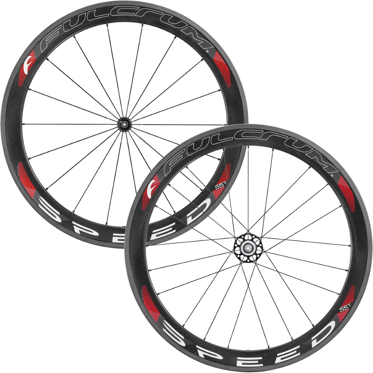 Paire de roues de route Fulcrum SPEED 55T Carbon (boyaux) - Carbone