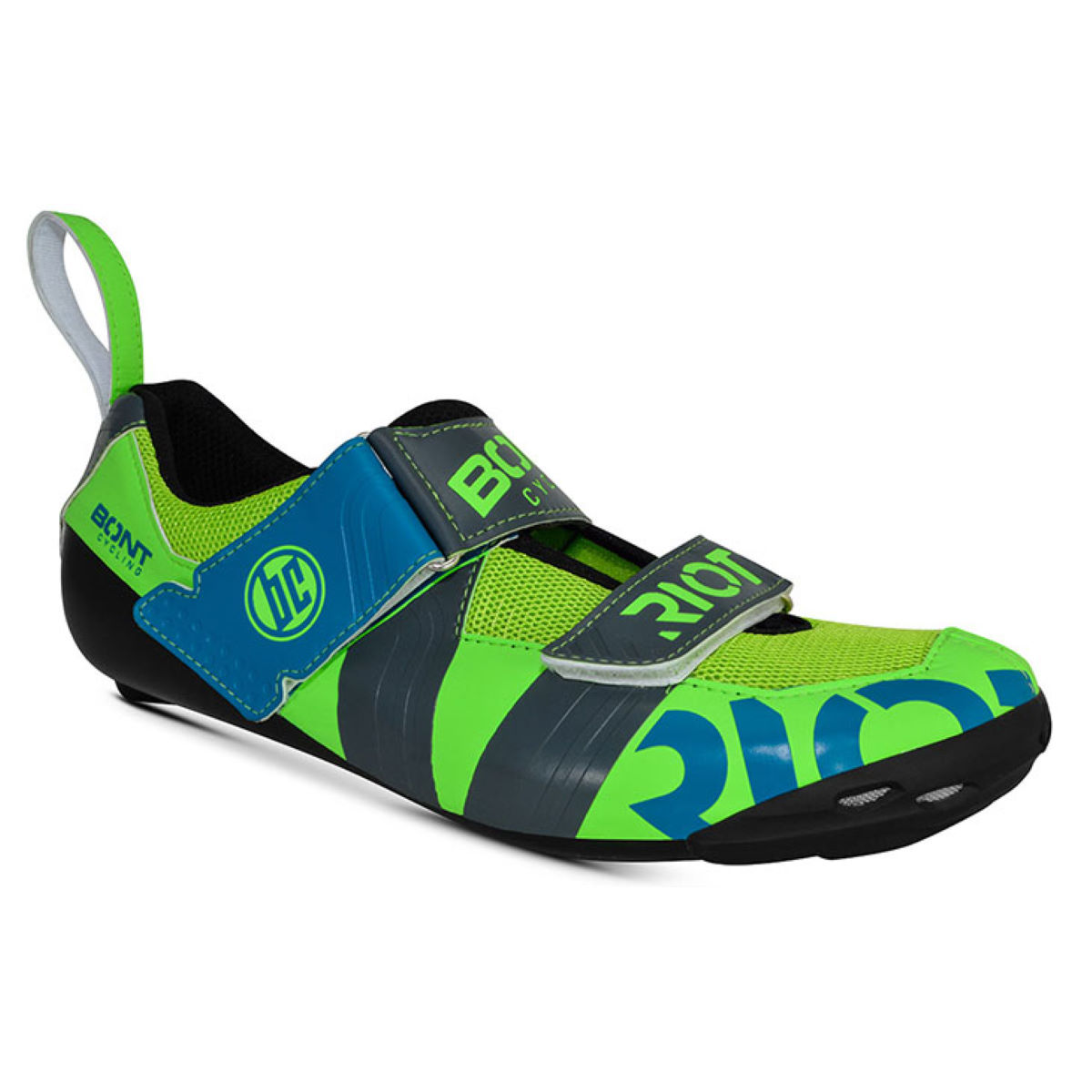 Chaussures de triathlon Bont Riot TR+ - EU 45 Lime/Charcoal
