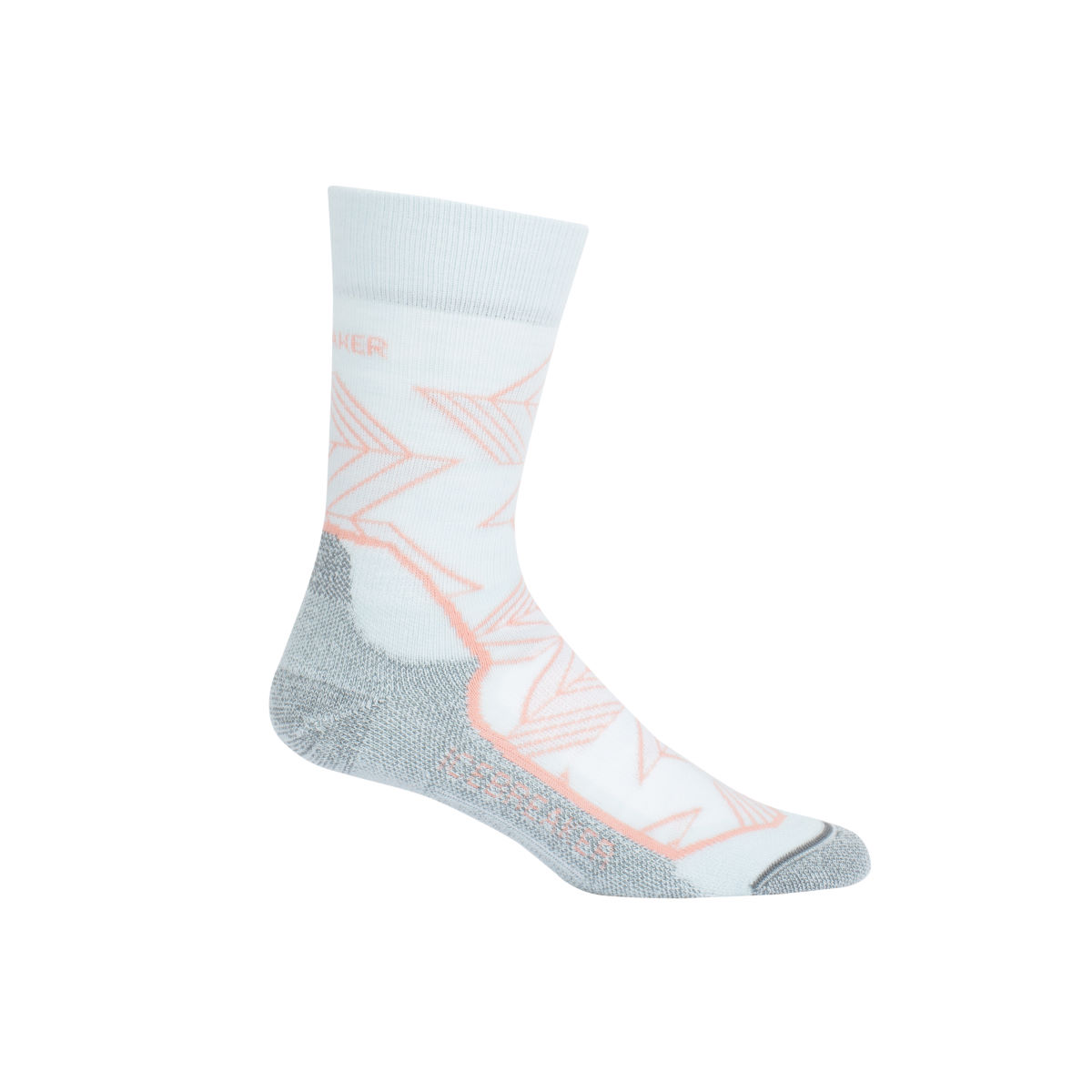 Click to view product details and reviews for Icebreaker Womens Hike Light Crew Intersecting Arrows Hiking Socks.