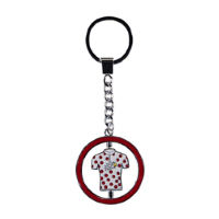 Tour de France Metal Keyring Polka Dot Jersey
