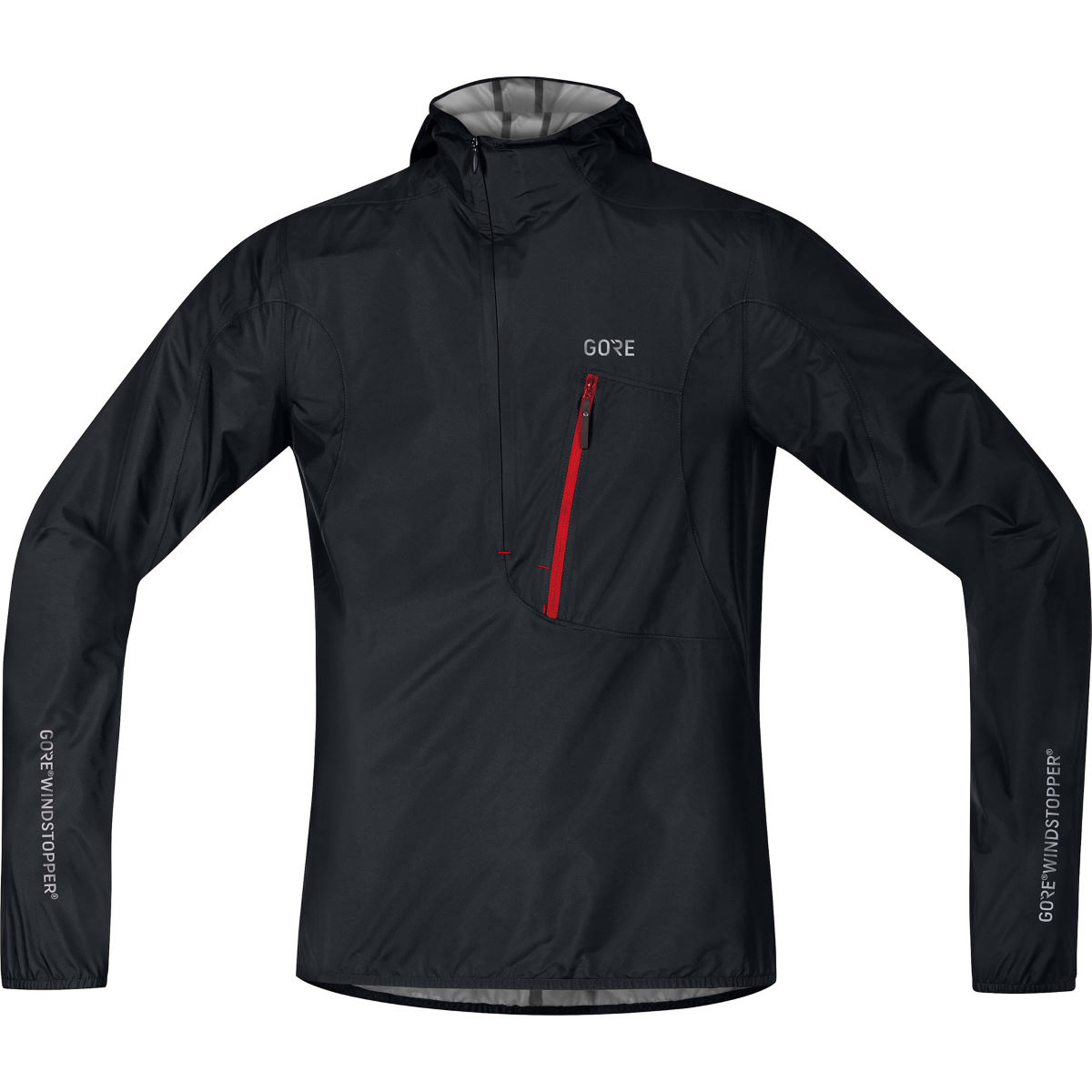 Gore C7 Windstopper® Hooded Rescue Jacket Red XL - S Black