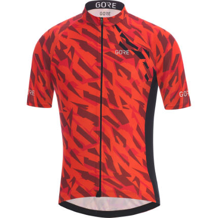 Gore C3 Camo Jersey Orange/Black M