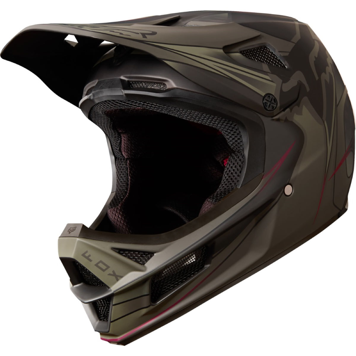 Casque Fox Racing Rampage Pro Carbon Kustom - S Noir/Noir Casques
