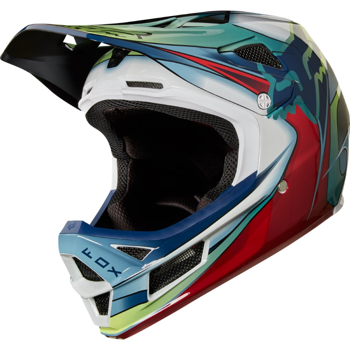 Casque Fox Racing Rampage Pro Carbon Kustom - L Blue/White/Red