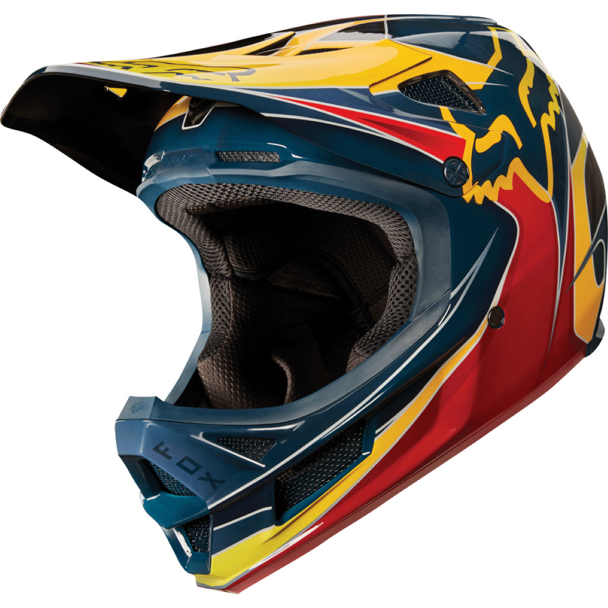 Casque Fox Racing Rampage Pro Carbon Kustom - L Red/Yellow Casques