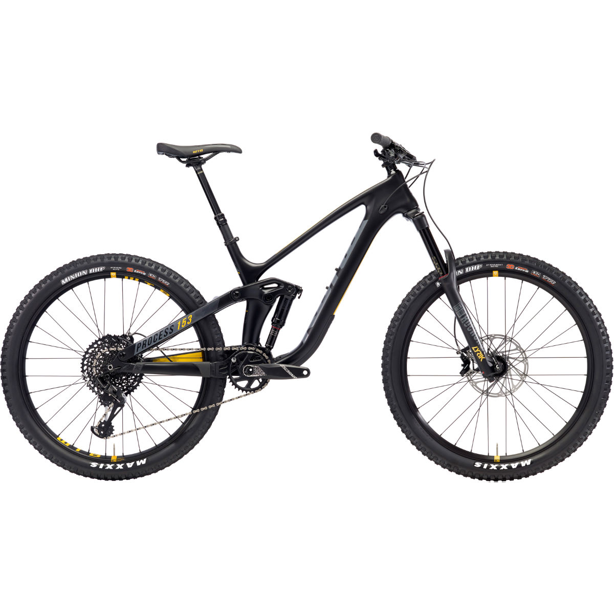 VTT Kona Process 153 CR 27,5 pouces (2018) - Medium Stock Bike Noir