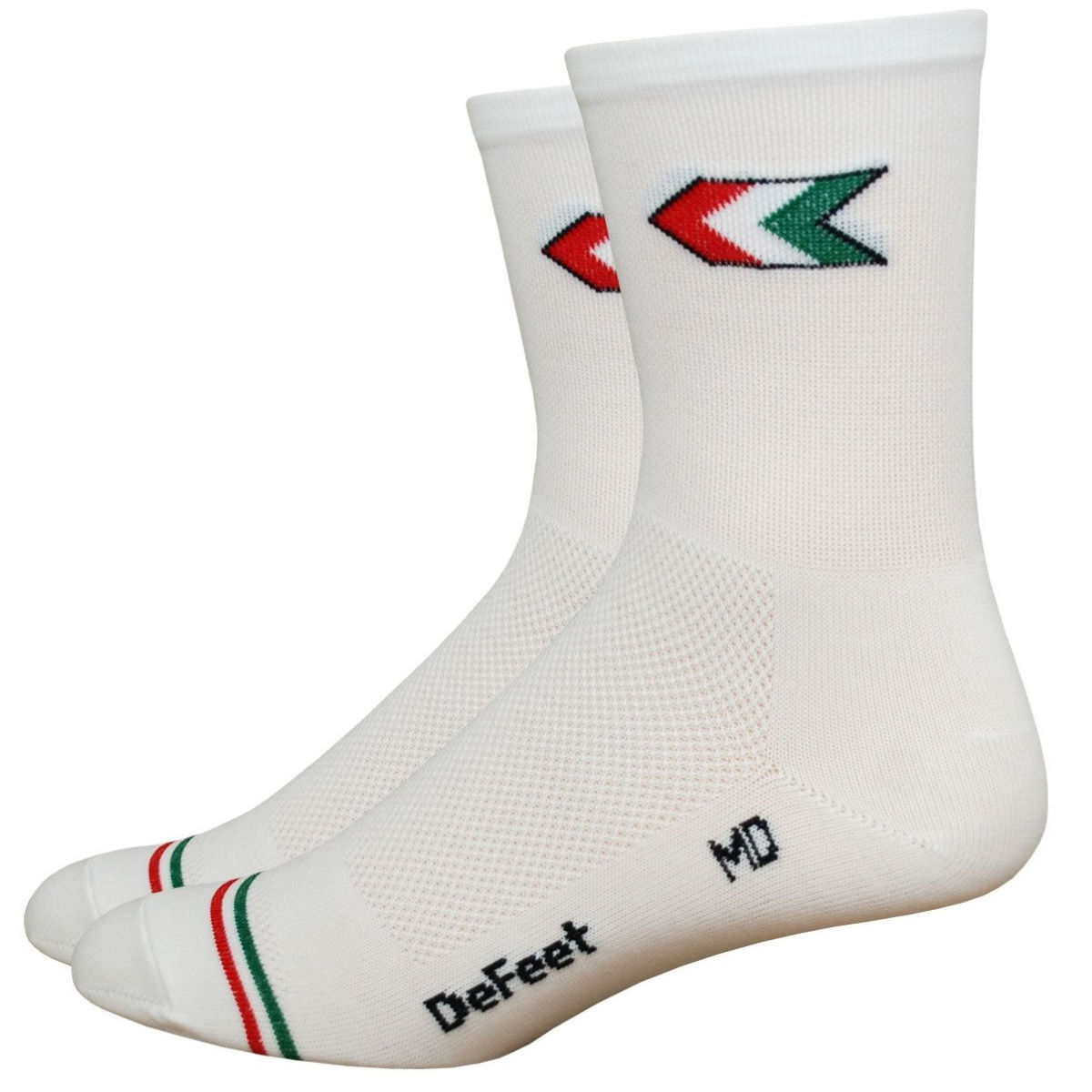 Chaussettes DeFeet Aireator Tall Giro - L Blanc Chaussettes vélo