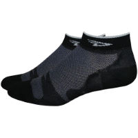 "DeFeet Leviator Lite 1"" Socks Black/White S"