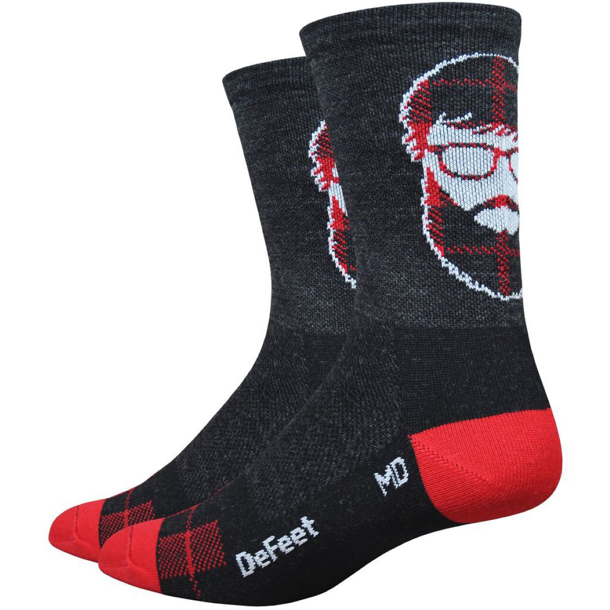 Chaussettes DeFeet Wooleator Hipster - XL Charbon Chaussettes vélo