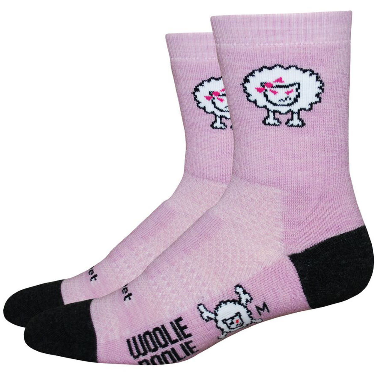 Chaussettes DeFeet Woolie Boolie 2 Bad Sheep - M Pink/Black