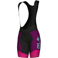 Alé Womens R-EV1 Summer Bib Shorts  Purple/Pink L