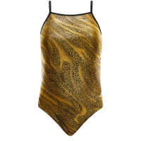 TYR Girls Slither Foil Wing Back Swimsuit