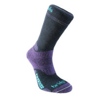 Bridgedale Womens WOOLFUSION Trekker (Black/Purple)