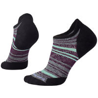 Smartwool Womens PhD run Light Elite Striped Micro   Black