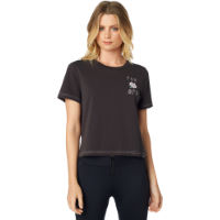 Fox Racing Womens Rosey Crop Tee Gray XS