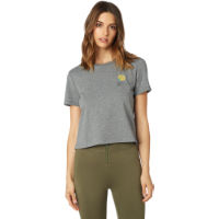 Fox Racing Womens Rosey Crop Tee Grey XS