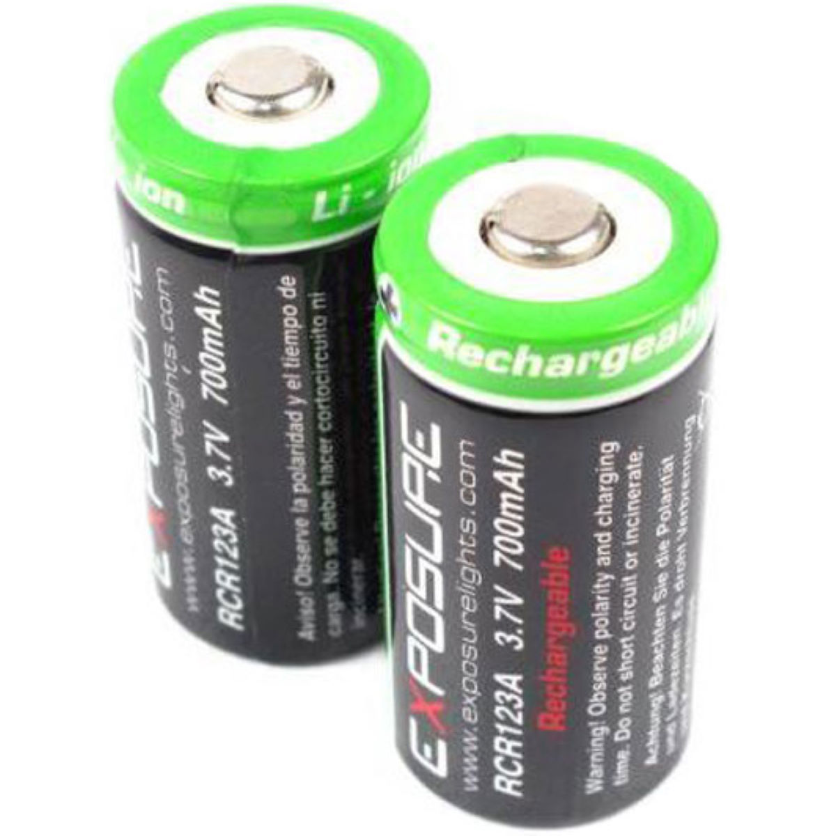 Exposure Rechargeable Rcr123 Batteries - Baterías y pilas