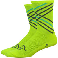 "DeFeet Handlebar Moustache 6"" Crossroads Socks"