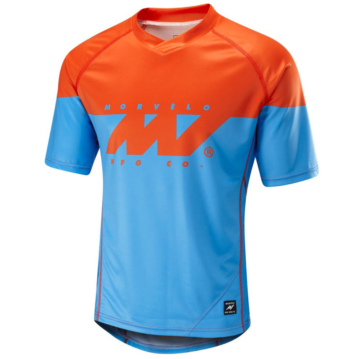 Maillot VTT Morvelo Kuler (manches courtes) - XL Blue/Red Maillots