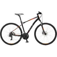 GT Transeo Comp Hybrid Sports Bike:Black:Stock Bike:M