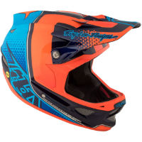 Troy Lee Designs D3 Carbon MIPS Helmet - Starburst Orange