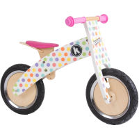 picture of Kiddimoto Pastel Dotty Kurve Balance Bike
