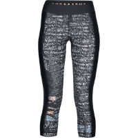 Under Armour Womens HeatGear Print Armour Gym Capri Black/Whit