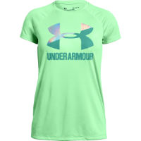 Under Armour Girls Big Logo Solid Tee Green S