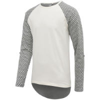 Isadore Polka Dot Long Sleeve T-Shirt  White/Gray XL