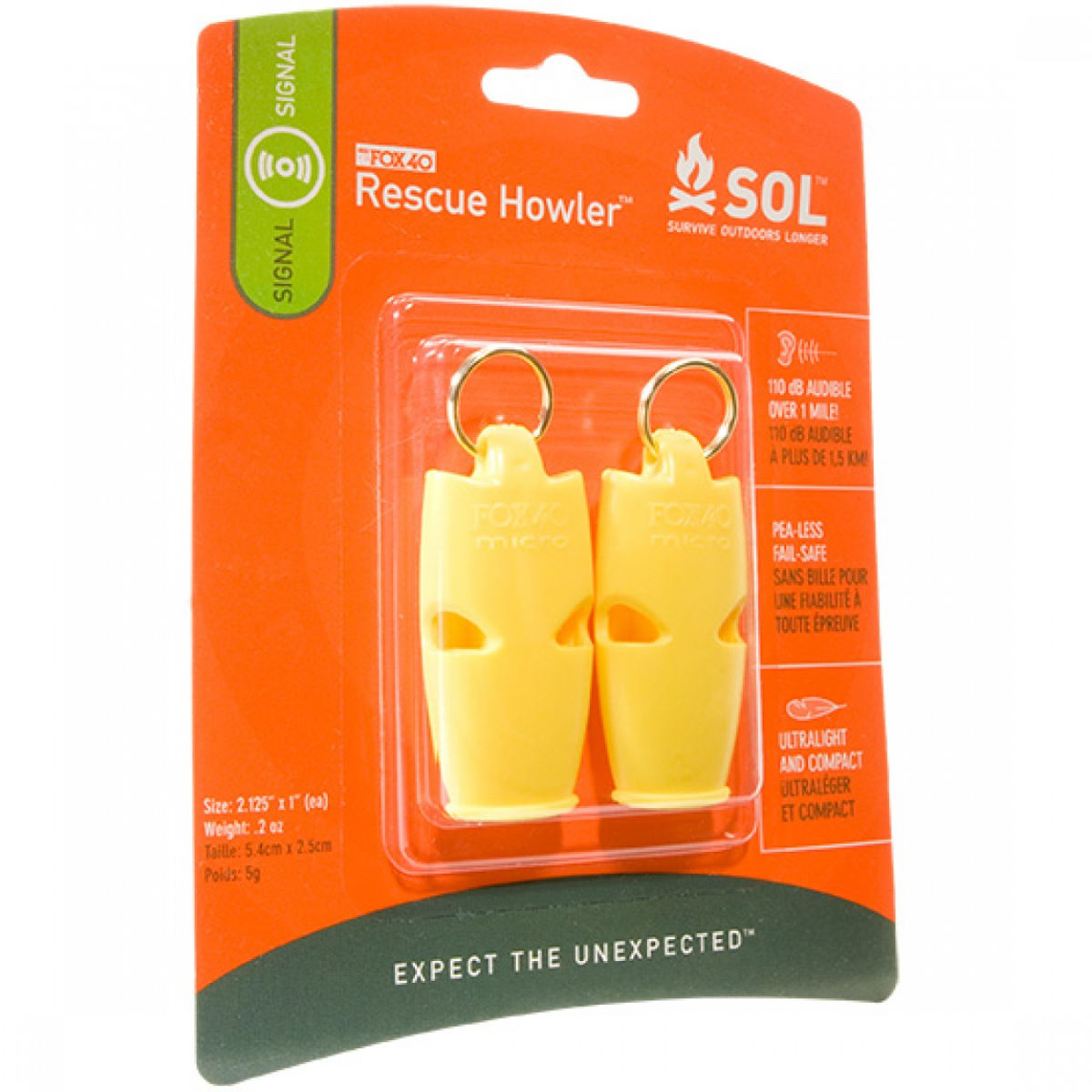 AMK Fox 40 Rescue Howler (2 Pack) - Silbatos