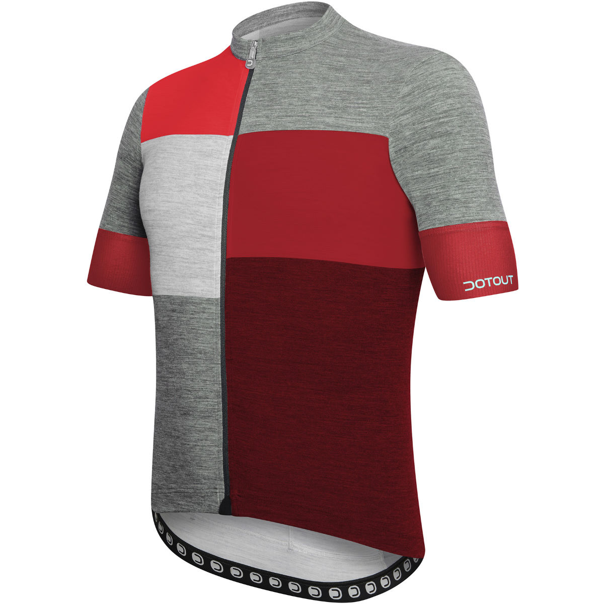 Dotout Square Jersey Grey/Red 3XL - 4XL Grey/Red