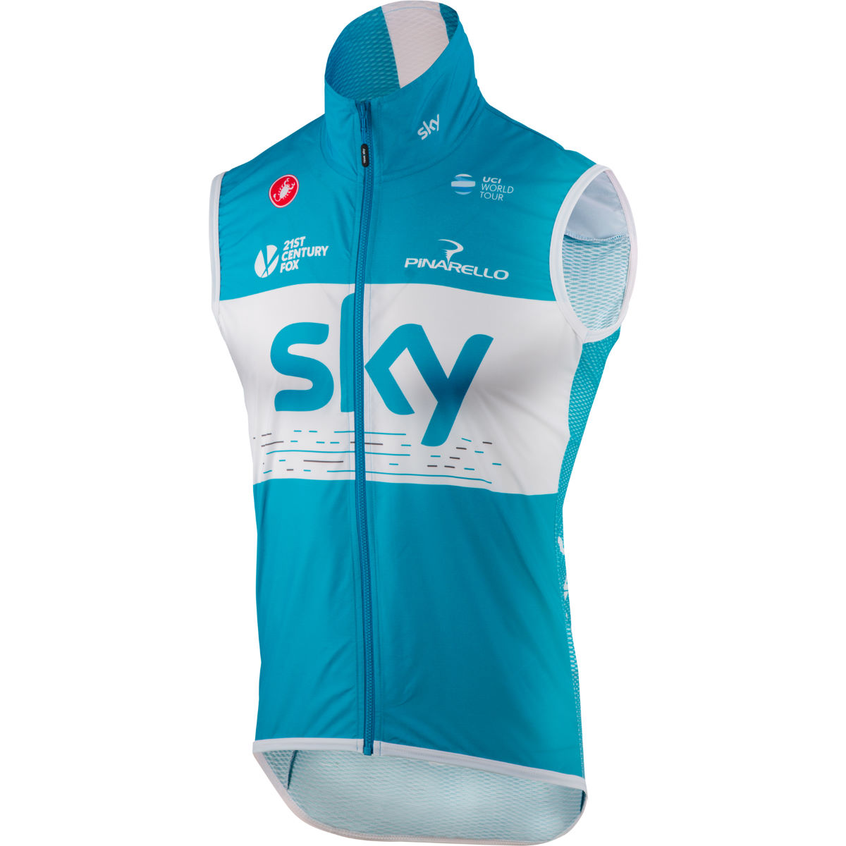 Gilet Castelli Team Sky Pro Light Wind (sans manches) - XXL