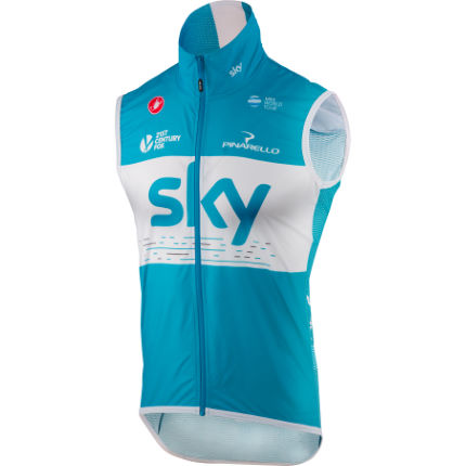 Castelli Team Sky Pro Light Wind Vest Blue S