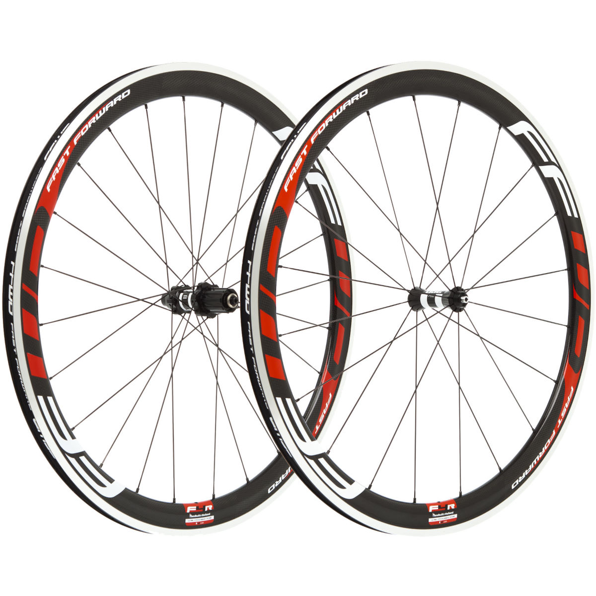 Fast Forward Carbon F4 Clincher 45mm SP Wheelset:White:700c:Shi - Juegos de ruedas
