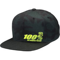 100% Youth Camber Snapback Hat Green One Size
