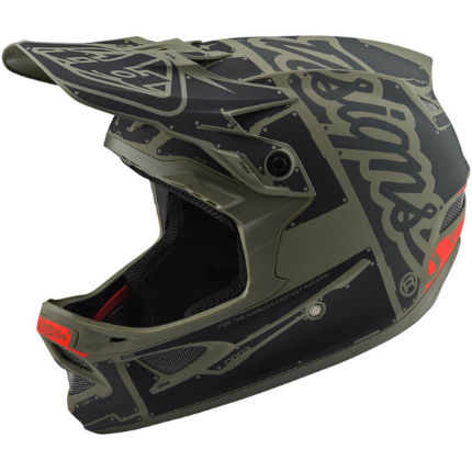 Troy Lee Designs D3 Fiberlite Helmet - Factory Trooper