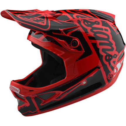 Troy Lee Designs D3 Fiberlite Helmet - Factory Red