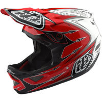 picture of Troy Lee Designs D3 Composite Helmet - Corona Red/White