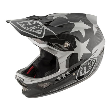 Troy Lee Designs D3 Carbon MIPS Helmet - Freedom Black/Grey