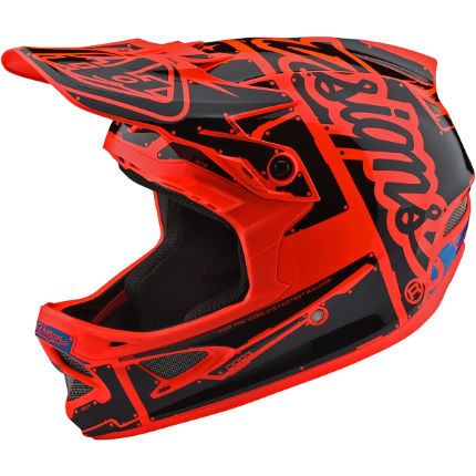 Troy Lee Designs D3 Fiberlite Helmet - Factory Orange Orange/Black