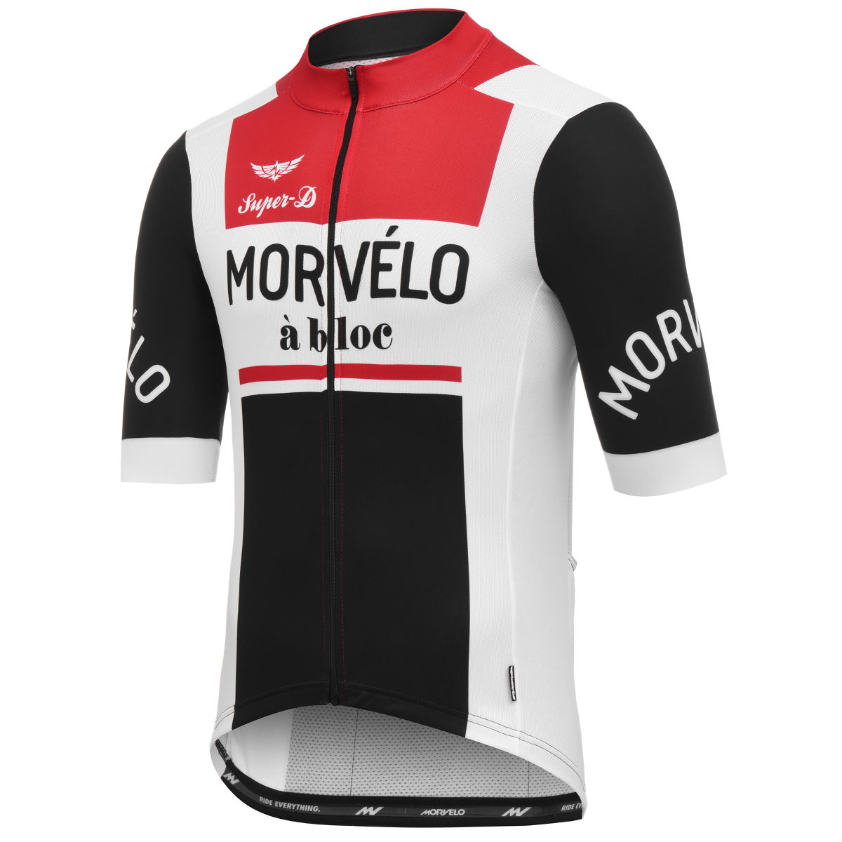 Maillot Morvelo 10 Year Celebration A bloc - XL Blanc/Noir/Rouge