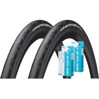 Continental 2 Grand Prix 4000S II 28c Tyres and 2 Free Tubes