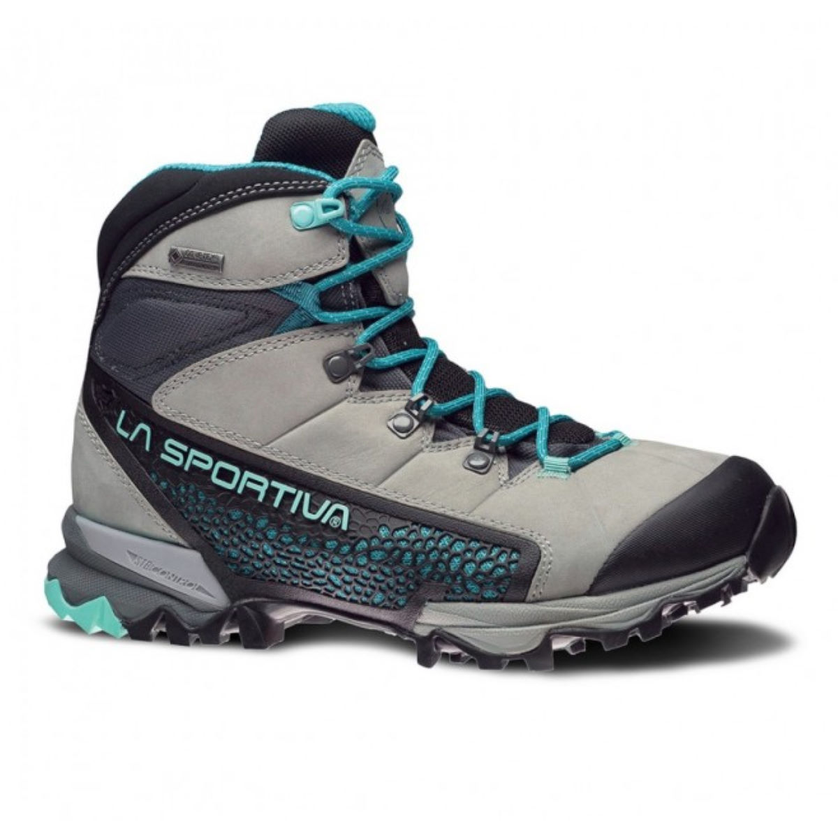 Chaussures Femme La Sportiva Nucleo GTX - 40 Grey/Mint