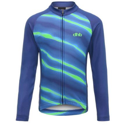 dhb Kids Long Sleeve Jersey - Lightning Stripe