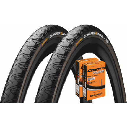 Picture of Continental 2 Grand Prix 4 Season 25c Tyres & 2 Tubes