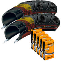 picture of Continental 2 Grand Prix 4 Season 25c Tyres & 5 Tubes